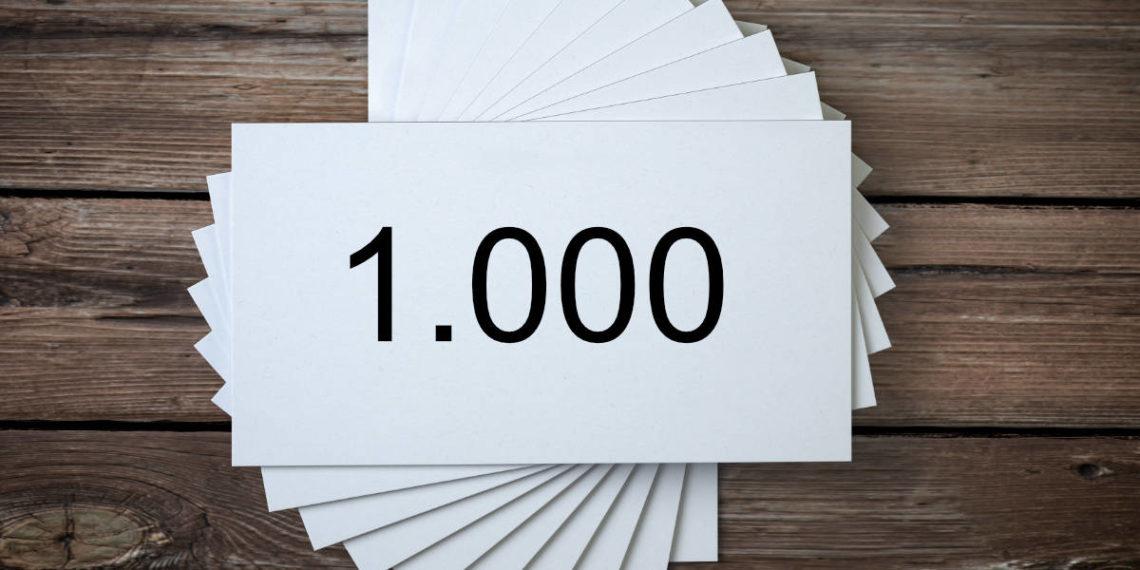 Quanto costano 1000 biglietti da visita